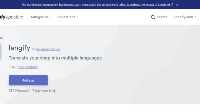 shopifyの多言語アプリLangify設定方法